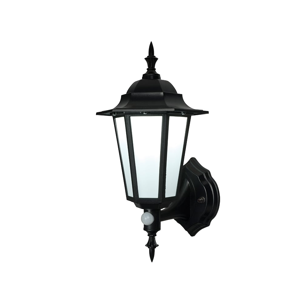 Endon Evesham Black Outdoor Led Wall Light With Sensor With Well Liked Outdoor Pir Lanterns (Gallery 1 of 20)