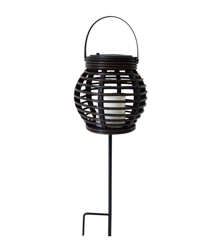 Escape To Paradise 18'' Solar Stake Lantern (Gallery 14 of 20)