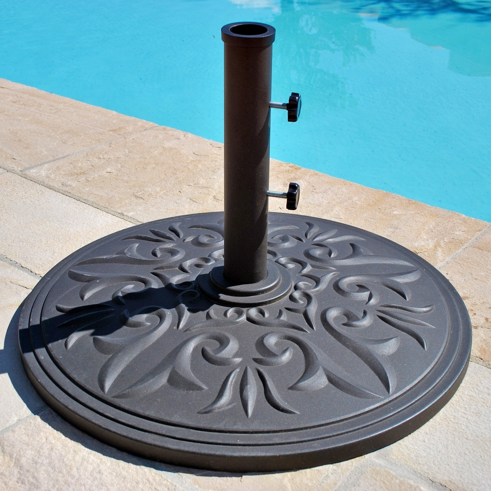European Patio Umbrellas In 2019 Patio Umbrella Stand A Little More Decorative — The Home Redesign (Gallery 15 of 20)