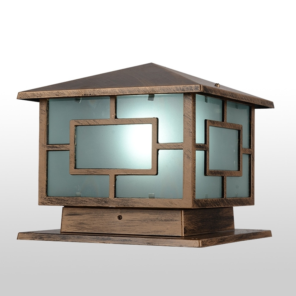 European Royal Wall Pillar Lamp Oriental Loft Shape Bronze Landscape Throughout Most Up To Date Outdoor Lighting Japanese Lanterns (Gallery 18 of 20)