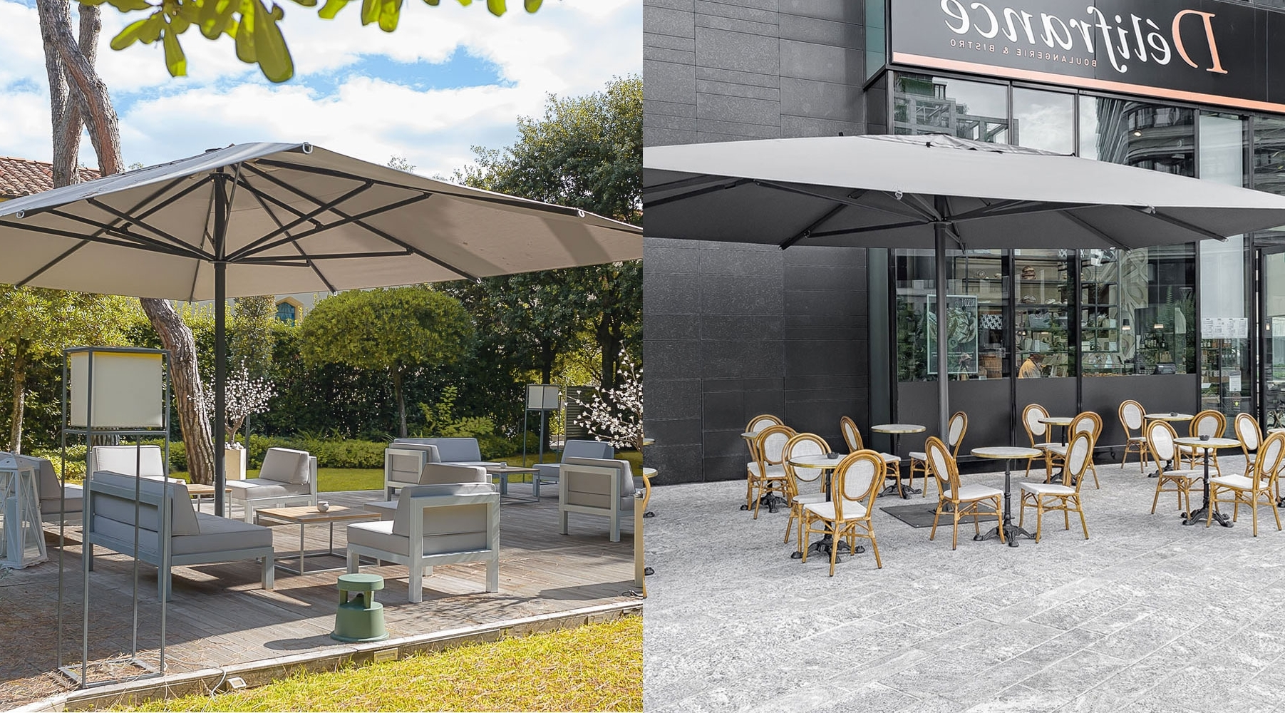 Extended Patio Umbrellas Throughout Trendy The Ultimate Guide To Choosing The Best Commercial Outdoor Umbrella (Gallery 8 of 20)