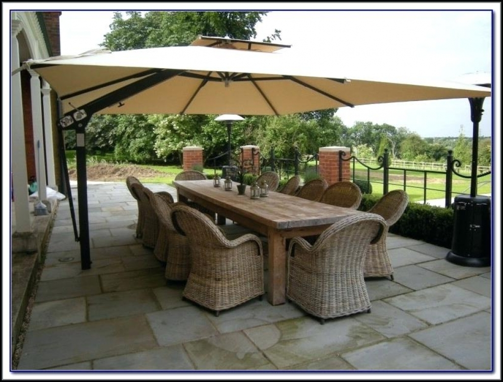Extra Large Patio Umbrellas Intended For Famous Extra Large Patio Umbrella Uk – Patio Ideas (Gallery 7 of 20)