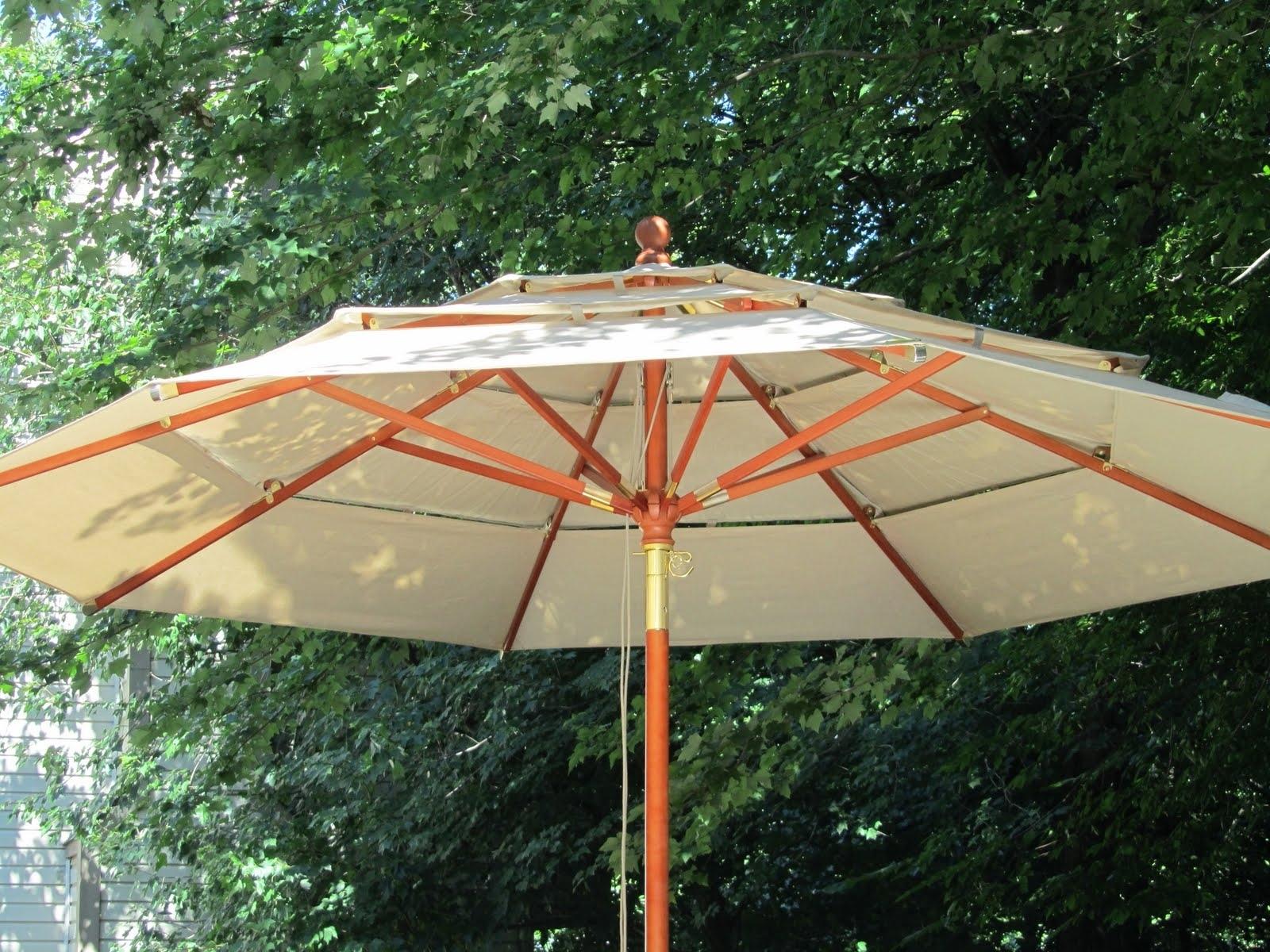 Extra Large Patio Umbrellas Throughout Preferred Garden: Enchanting Outdoor Patio Decor Ideas With Patio Umbrellas (View 16 of 20)