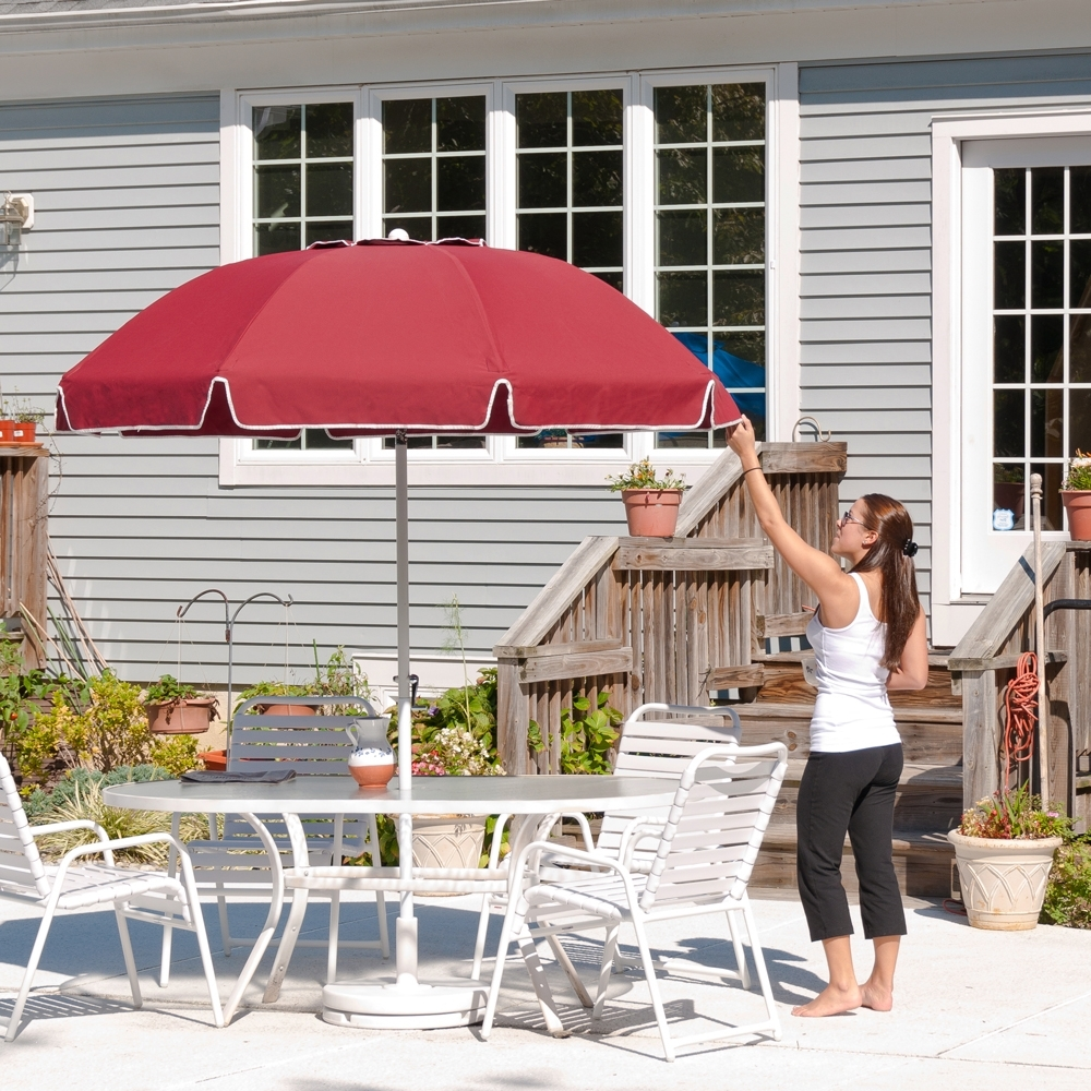 Famous 7.5 Ft Frankford Acrylic Fiberglass Patio Umbrella With Valance Regarding Patio Umbrellas With Valance (Gallery 6 of 20)