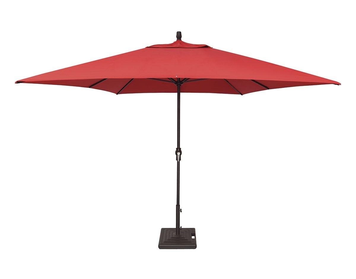 Famous 8' X 11' Rectangular Crank Lift Umbrella (um8811rt Swv) Within Custom Sunbrella Patio Umbrellas (View 11 of 20)