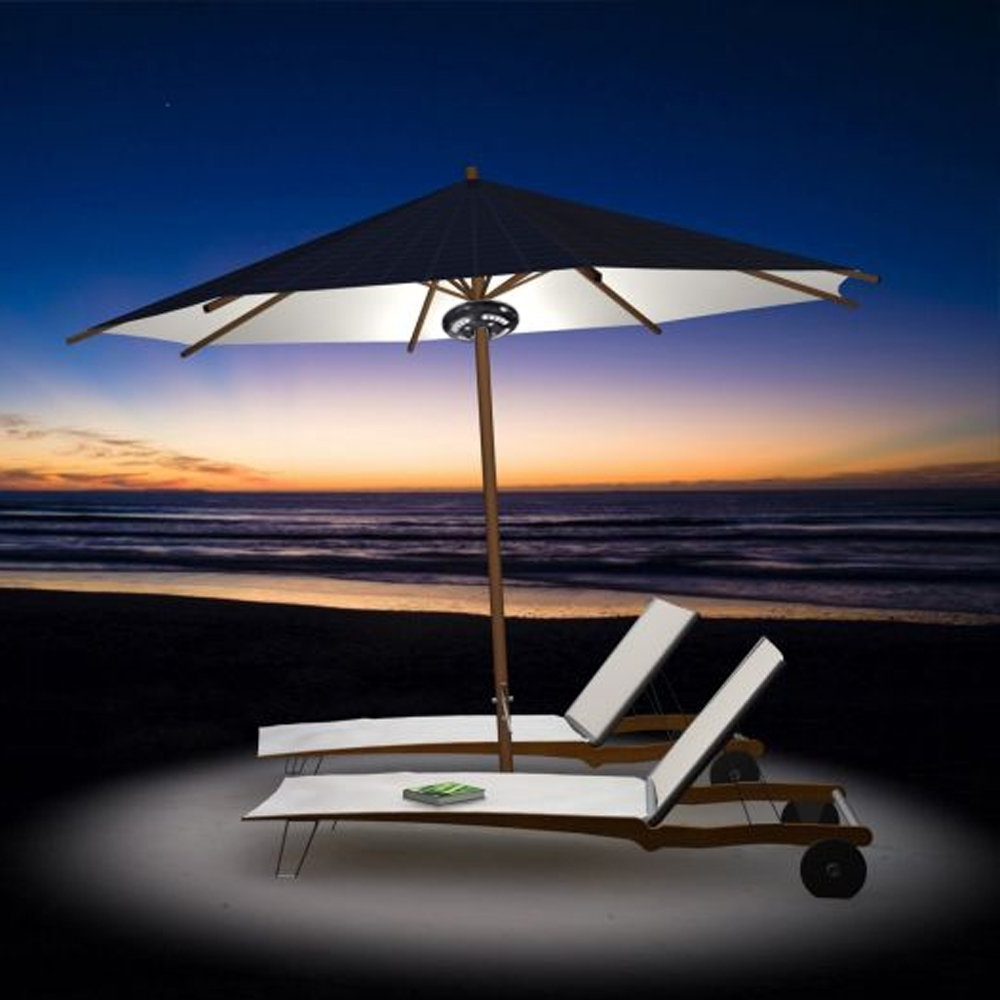 Famous Amir Rechargeable Patio Umbrella Lights, Cordless 24 Led Umbrella Regarding Patio Umbrellas With Led Lights (View 3 of 20)