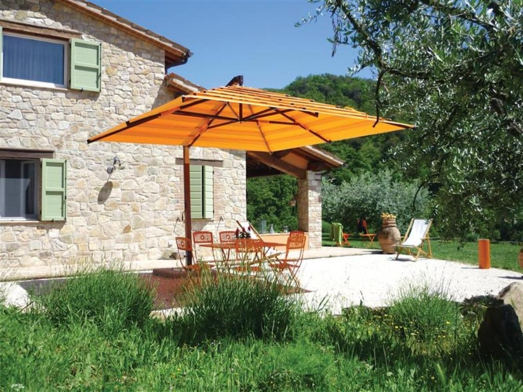 Famous Best Cantilever Patio Umbrellas — Everything Home Design For Yellow Sunbrella Patio Umbrellas (View 20 of 20)