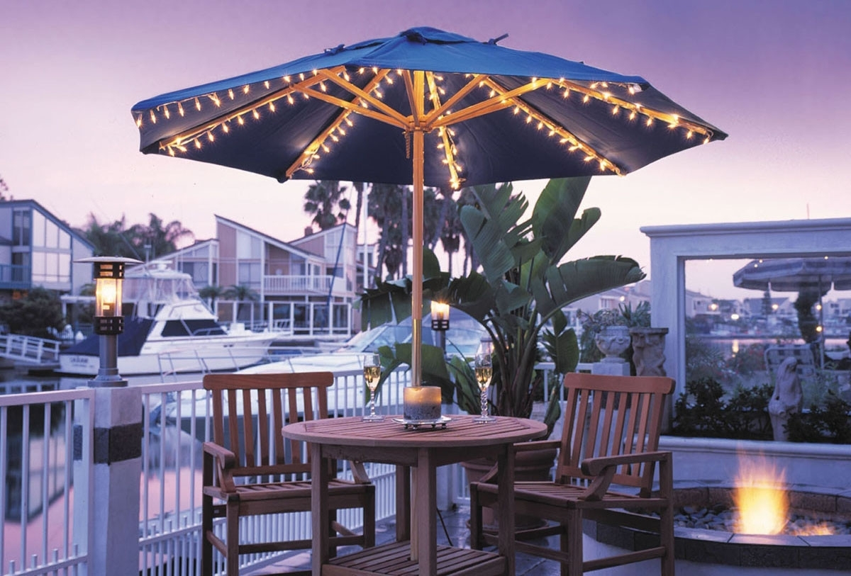 Famous Creative Of Patio Umbrellas With Lights Patio Umbrella Lights Ashery With Patio Umbrellas With Lights (View 6 of 20)