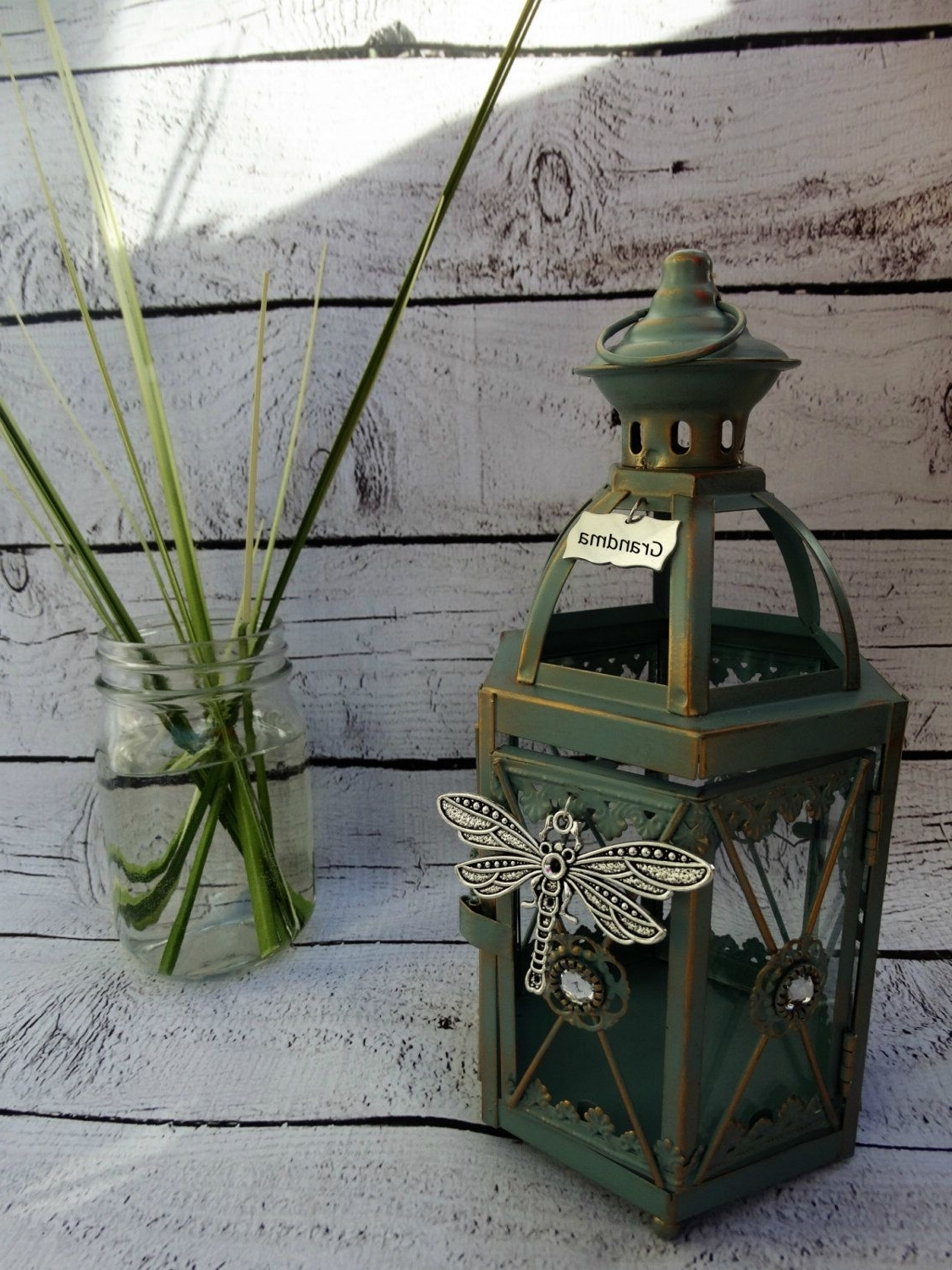 Famous Etsy Outdoor Lanterns With Missing You Dragonfly Eternal Light Candle Gift Lantern Indoor Or (Gallery 13 of 20)