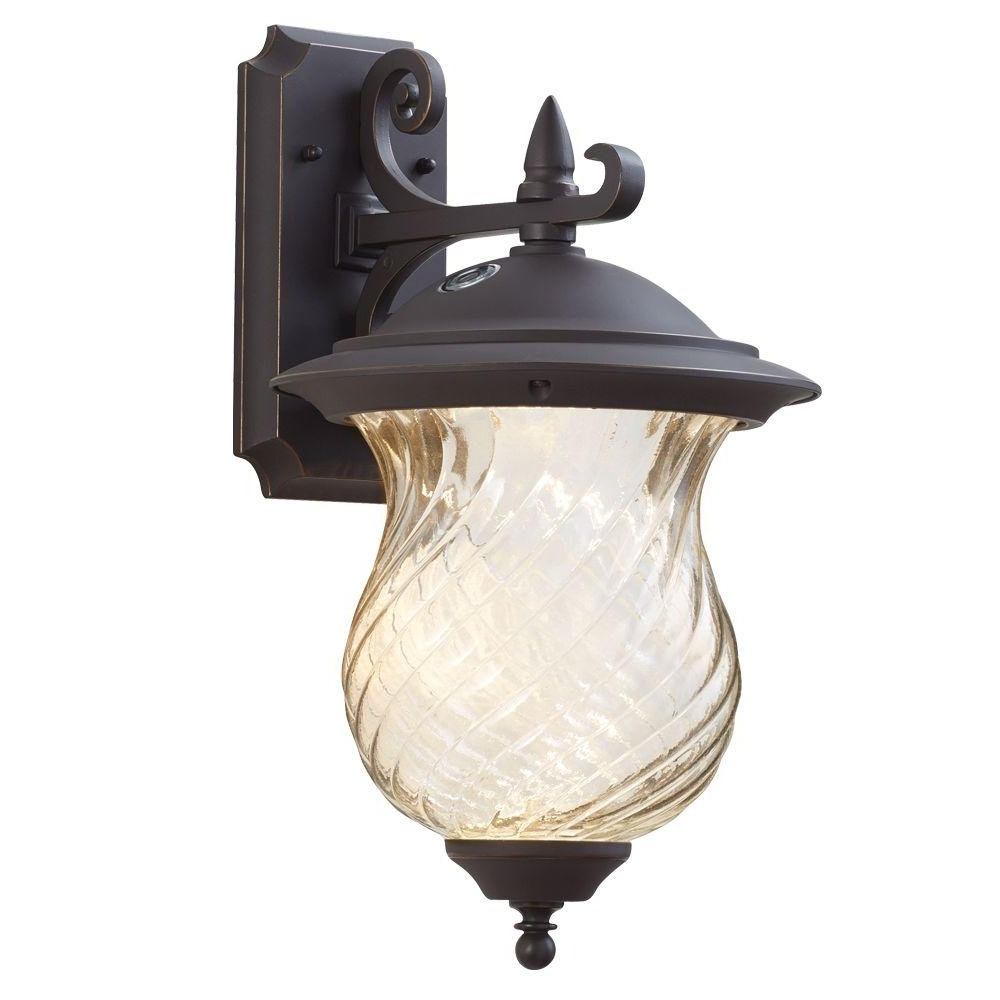 Famous Home Decorators Collection Aged Patina Outdoor Integrated Led Wall Pertaining To Outdoor Lanterns With Photocell (View 2 of 20)