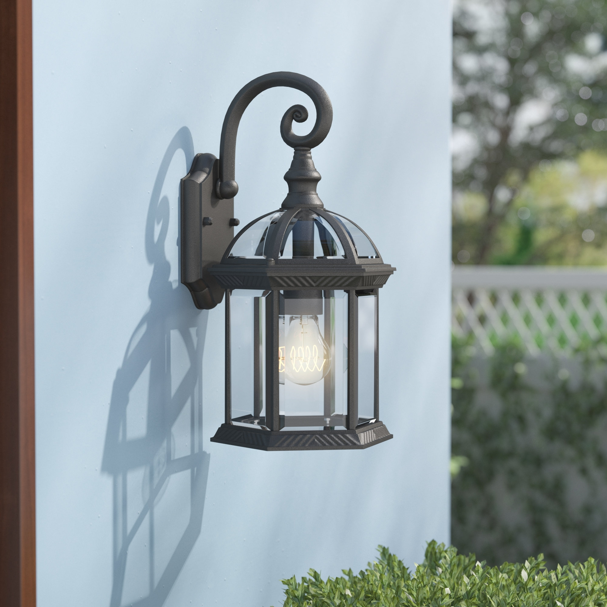 Famous Joanns Outdoor Lanterns Throughout Astoria Grand Caroline 1 Light Outdoor Wall Lantern & Reviews (View 5 of 20)