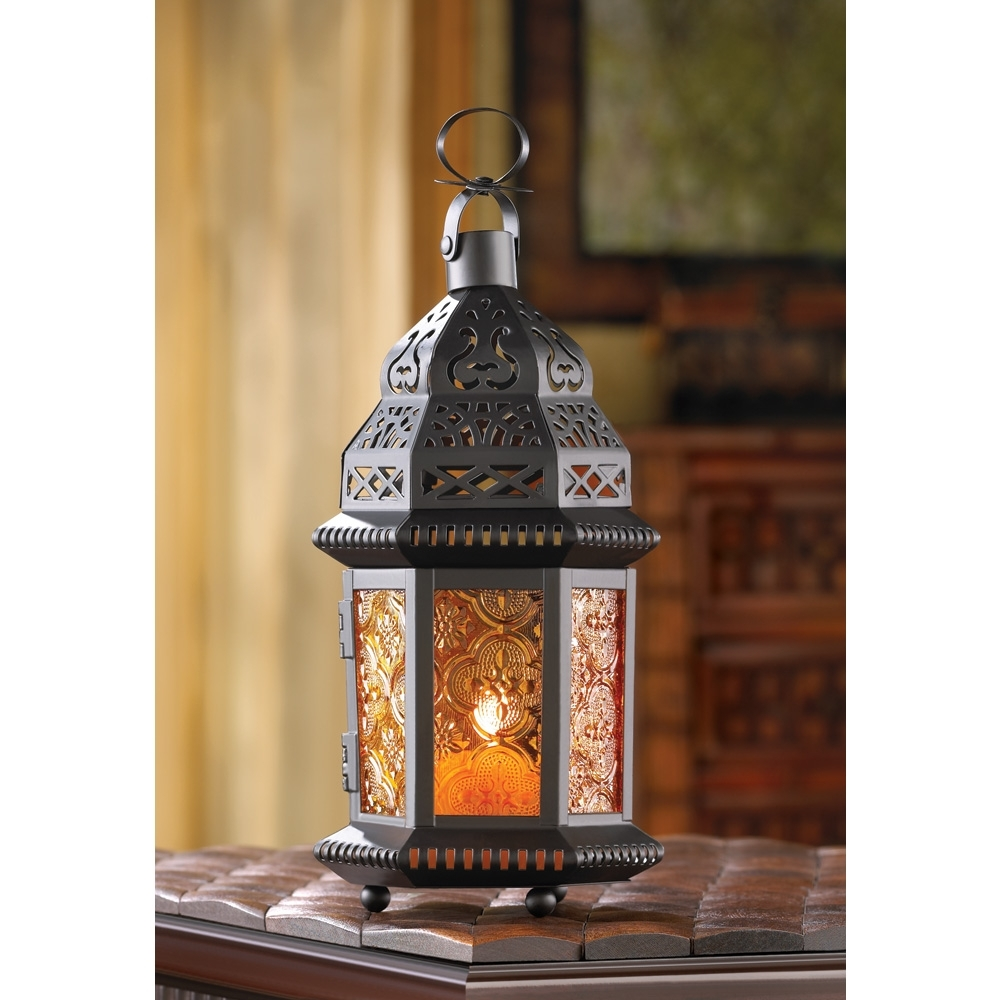 Famous Moroccan Outdoor Lanterns For Decorative Candle Lanterns, Large Metal Lantern Candle Outdoor Patio (View 4 of 20)