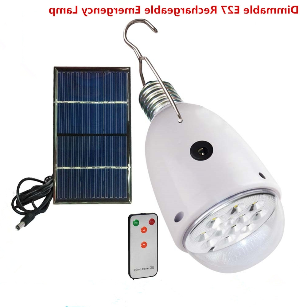 Famous Outdoor/indoor 20 Led Solar Light Garden Home Security Lamp Dimmable Pertaining To Outdoor Lanterns With Remote Control (View 3 of 20)