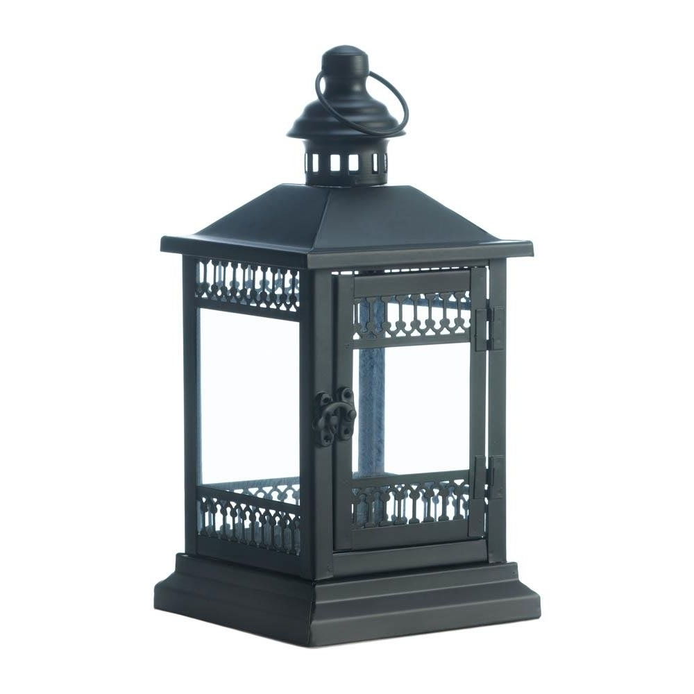 Famous Outdoor Iron Lanterns In Candle Lantern Decor, Black Outdoor Iron Victorian Grace Candle (Gallery 20 of 20)