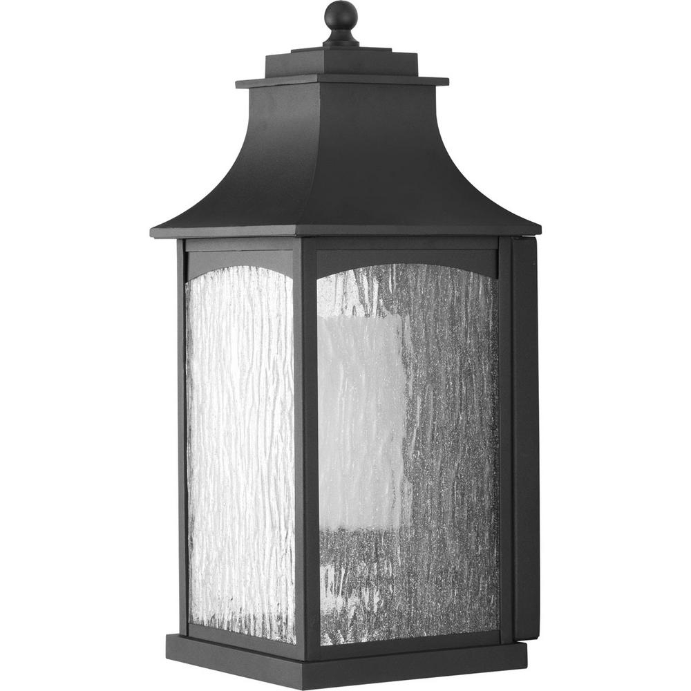 Famous Outdoor Porch Lanterns Throughout Progress Lighting Maison Collection 1 Light Outdoor Black Wall (View 7 of 20)
