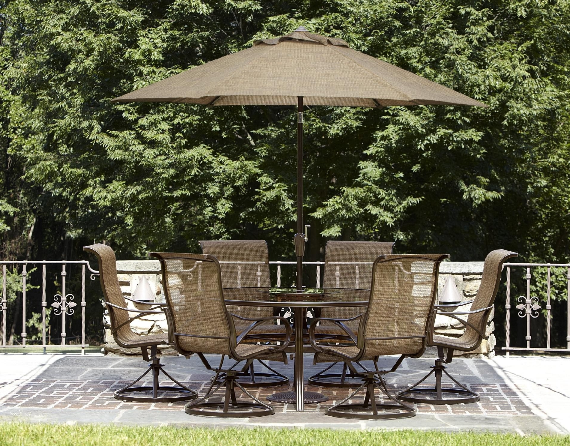 Famous Patio Sets With Umbrellas Pertaining To Walmart Umbrellas Patio Beautiful Furniture Walmart Patio Umbrella (View 18 of 20)
