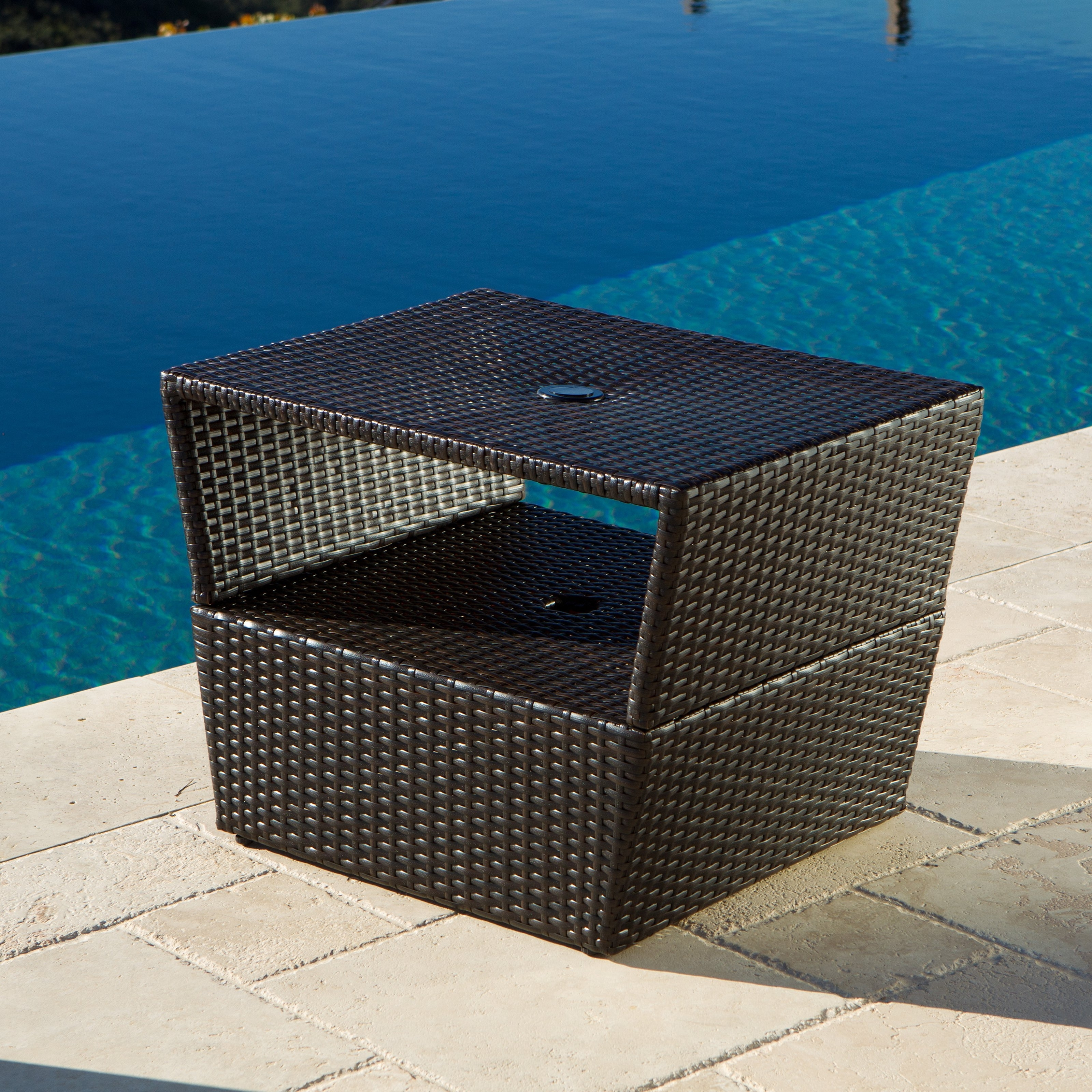 Famous Patio Umbrella Stand Side Tables With Regard To Seemly Outdoor Umbrella Stand Table Zkke Outdoor Umbrella Stand (Gallery 13 of 20)