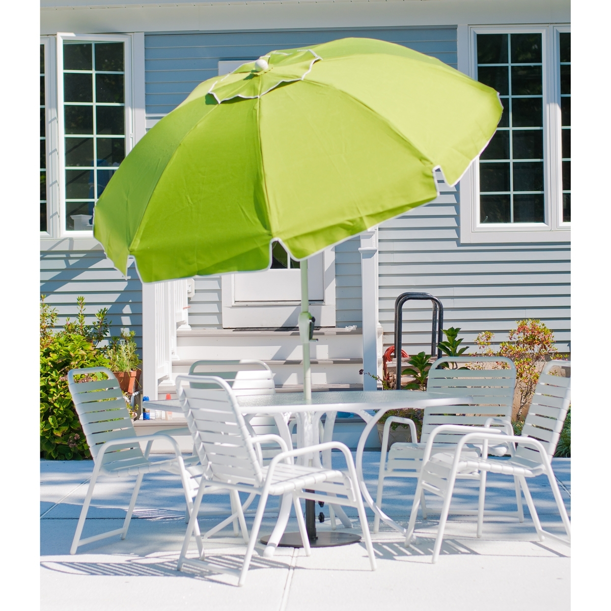 Famous Patio Umbrellas With Valance For 7.5 Ft Frankford Acrylic Fiberglass Patio Umbrella With Valance (Gallery 18 of 20)