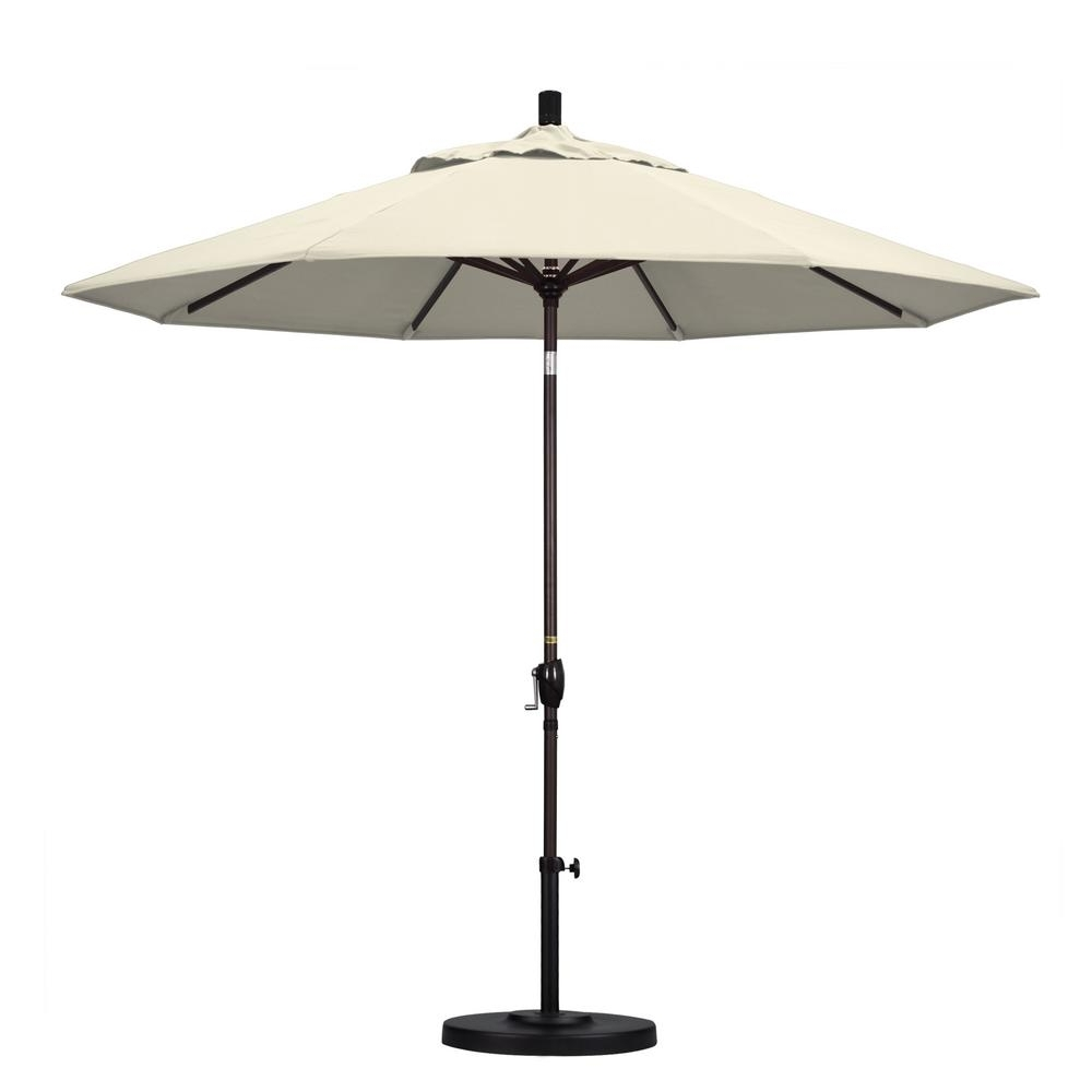 Famous Rectangle – Patio Umbrellas – Patio Furniture – The Home Depot Within Home Depot Patio Umbrellas (View 9 of 20)