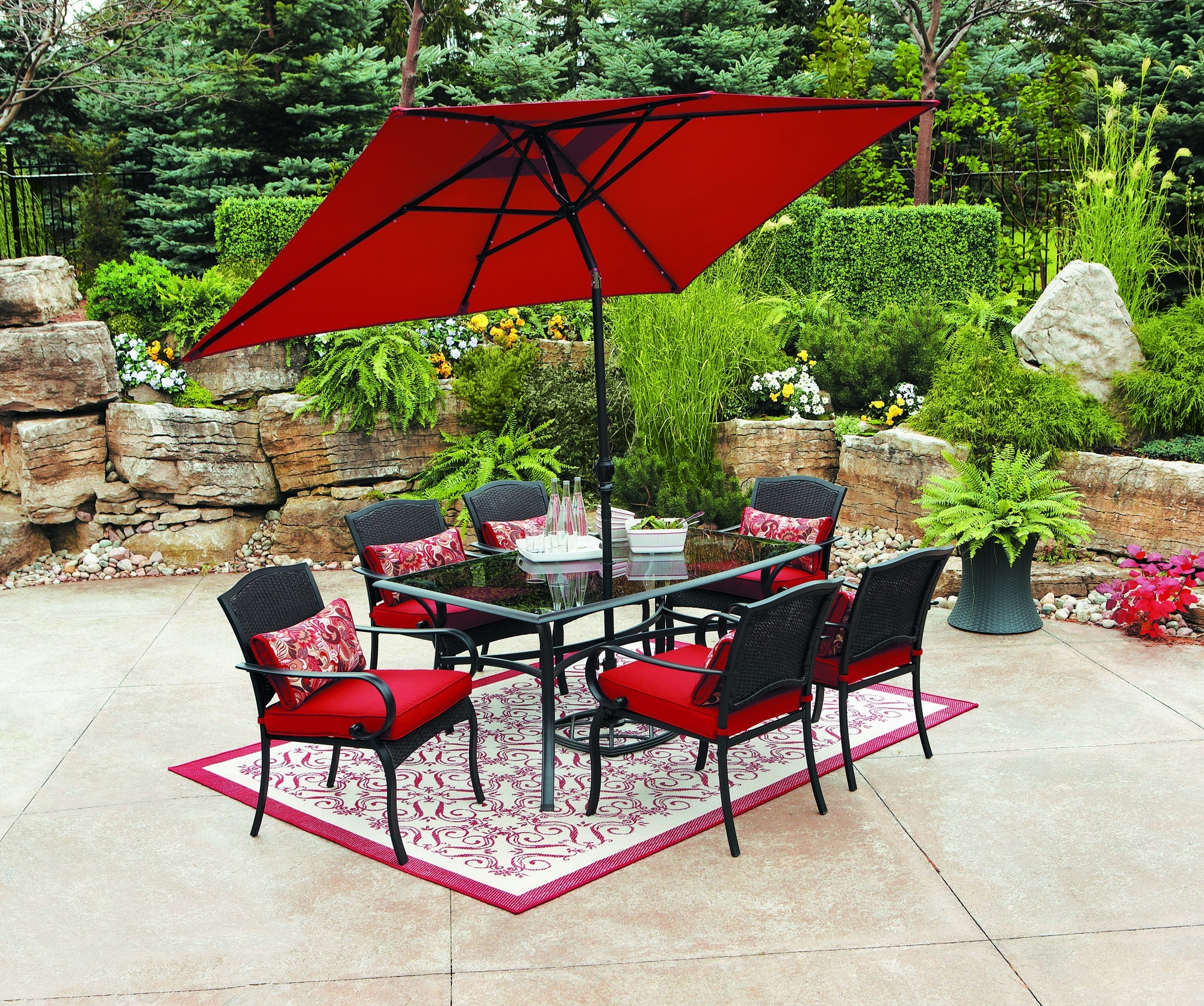 Famous Red Patio Umbrellas With Regard To Red Outdoor Table Umbrellas – Outdoor Ideas (View 4 of 20)