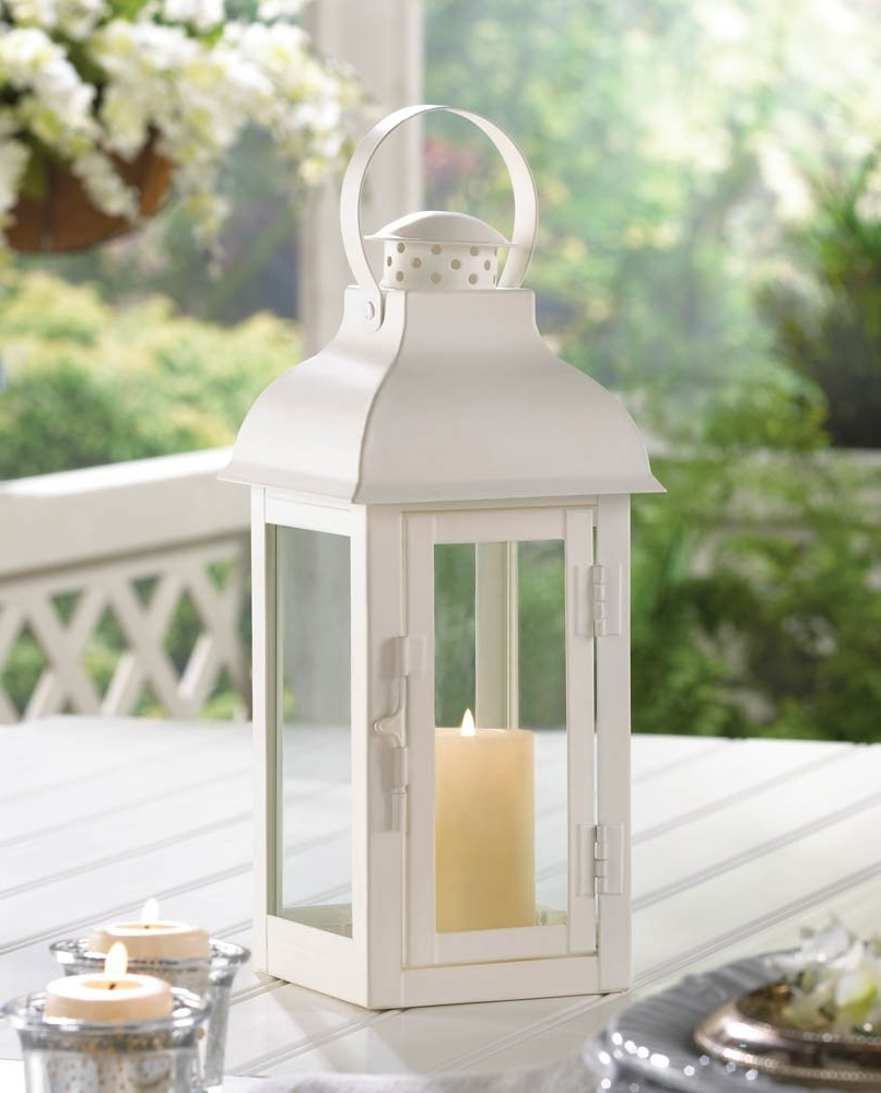 Famous White Lantern Candle, Antique Wrought Outdoor Metal Candle Lantern Inside White Outdoor Lanterns (View 2 of 20)