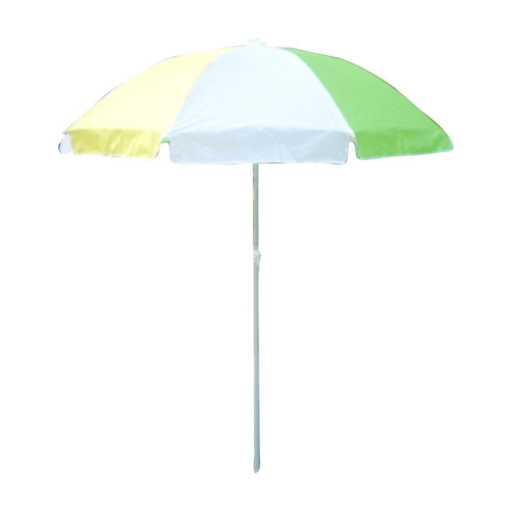 Fashionable Drape Patio Umbrellas For Lohasrus 32 In. Kids Patio Umbrella In Green/white/yellow Mm40101 (Gallery 2 of 20)