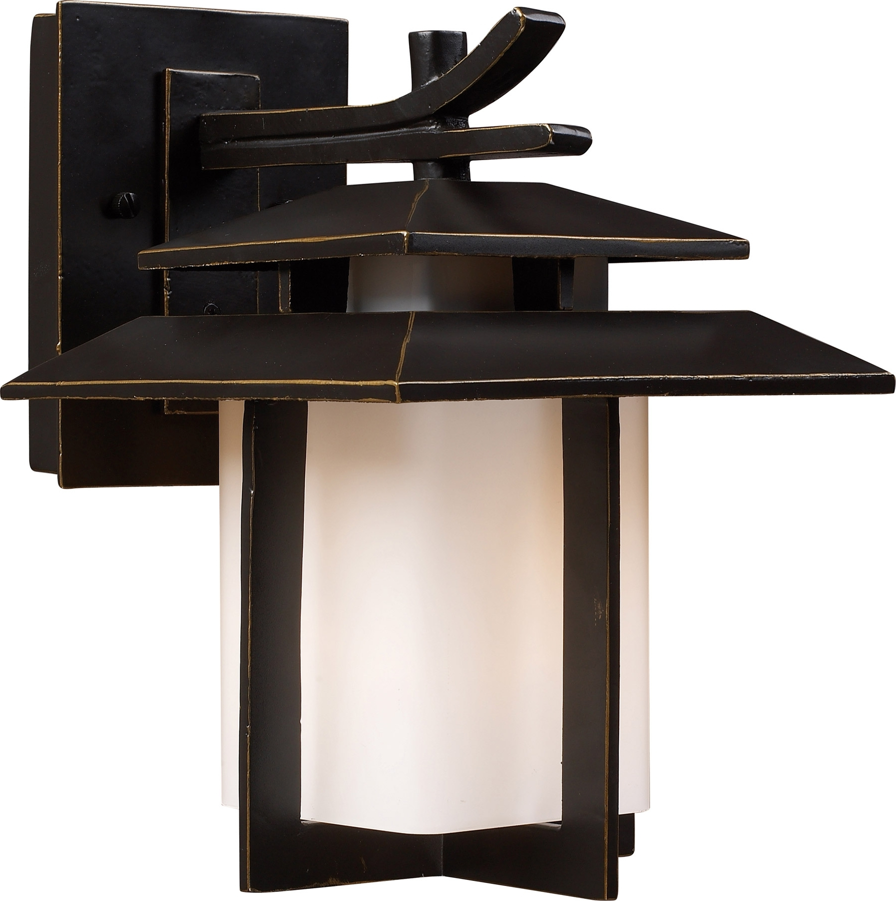 Fashionable Elk Lighting 42170/1 Kanso Outdoor Wall Mount Lantern In Outdoor Japanese Lanterns For Sale (View 3 of 20)