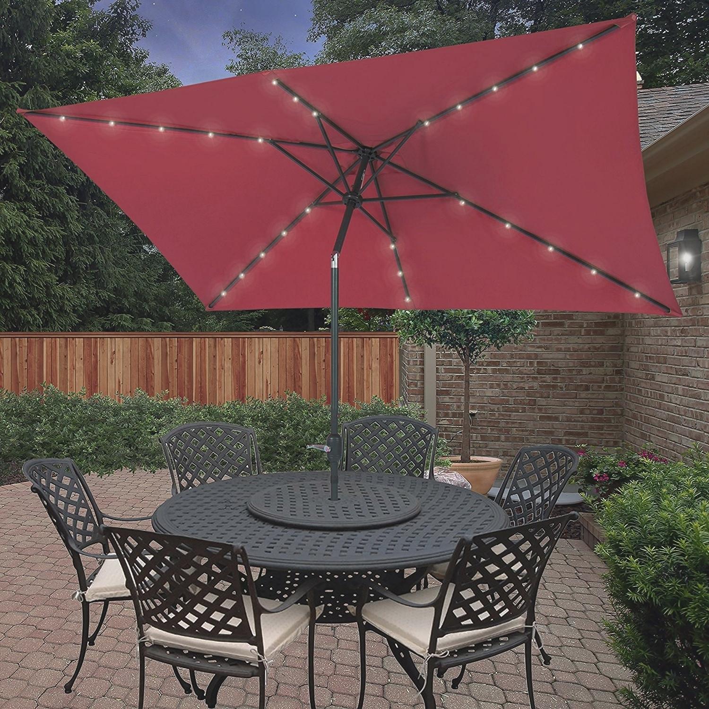 Fashionable Hampton Bay Patio Umbrellas Within Comfy Hampton Bay Patio Umbrella With Solar Lights F94X In Creative (View 2 of 20)