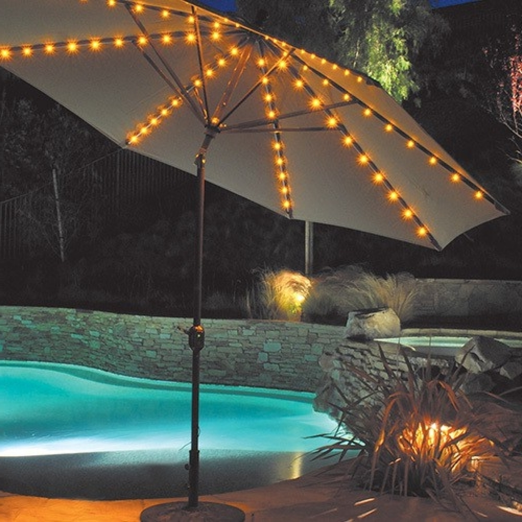 Fashionable Lighted Patio Umbrella Providing An Amusing Nuance (Gallery 20 of 20)