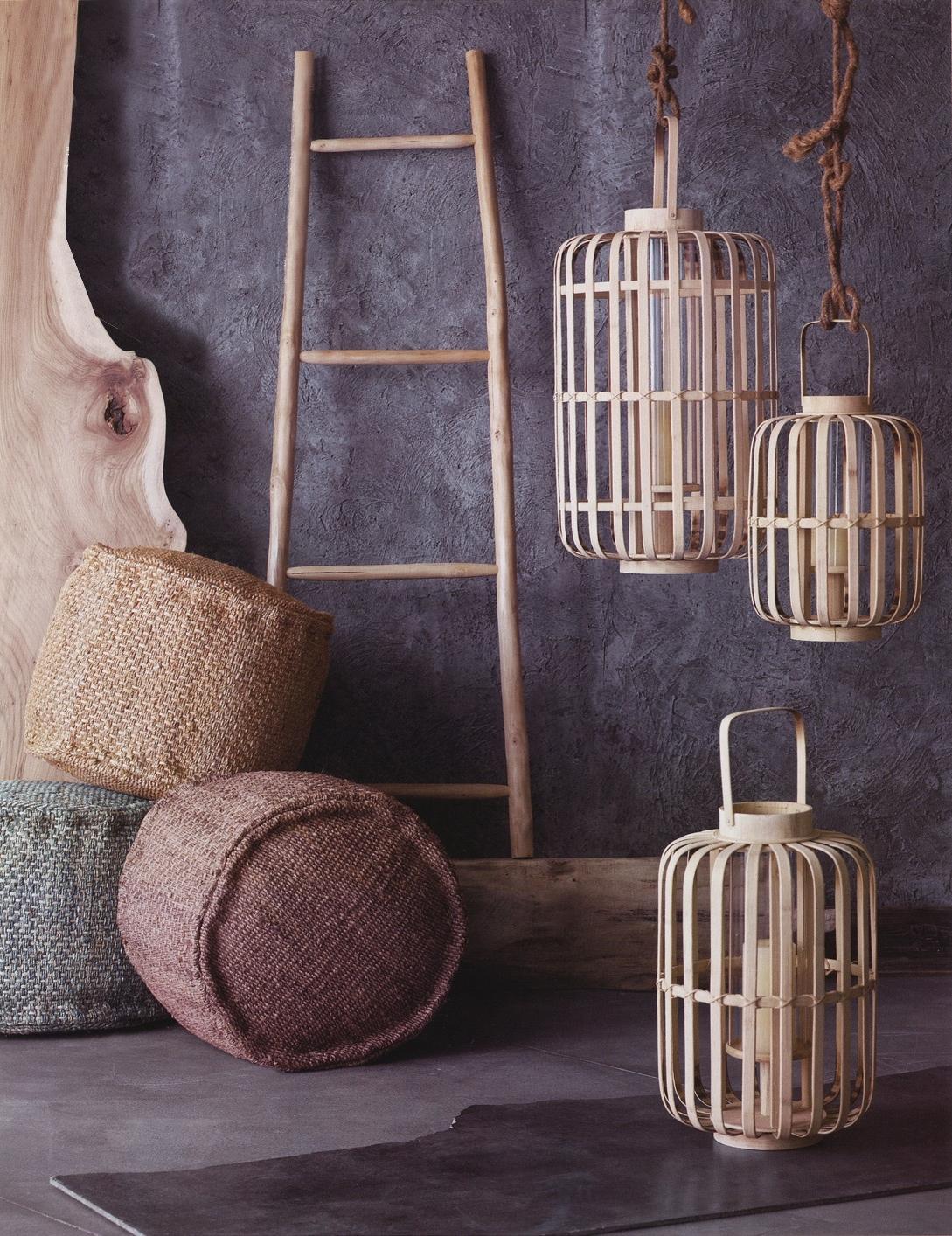 Fashionable Outdoor Bamboo Lanterns Intended For Junzi Bent Bamboo Lantern Lights: Nova (View 6 of 20)