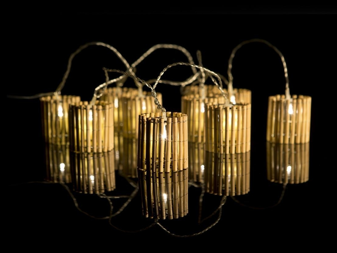 Fashionable Outdoor Bamboo Lanterns Regarding Bamboo Lantern Fairy Lights – The Fairy Light Shop (View 16 of 20)