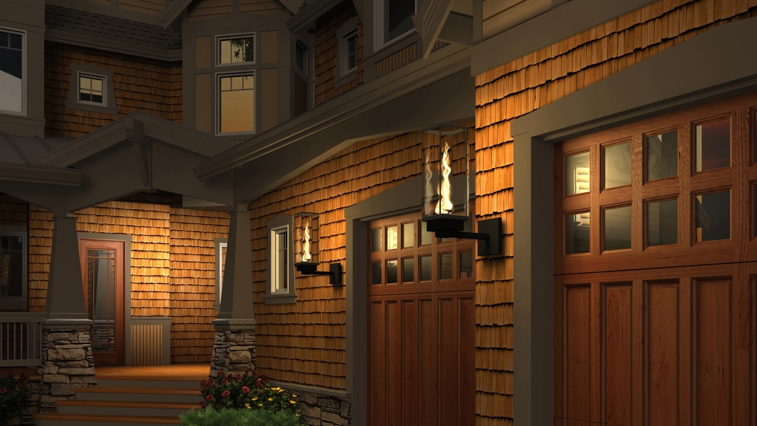 Fashionable Outdoor Garage Lanterns Intended For Tempest Torch – Outdoor Gas Lamps And Lighting (View 7 of 20)
