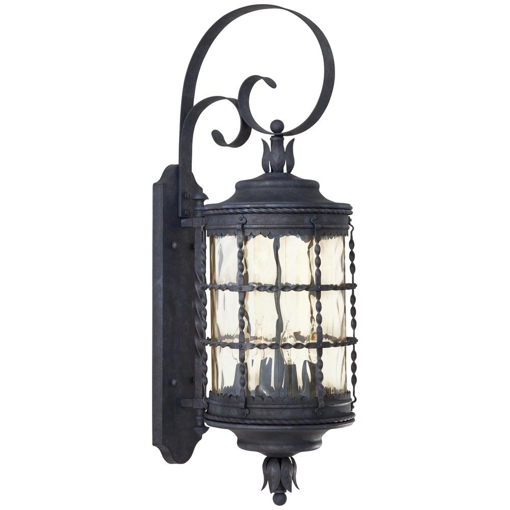 Fashionable Outdoor Iron Lanterns Throughout The Great Outdoors Minka Lavery Mallorca Light Spanish Iron Outdoor (View 15 of 20)