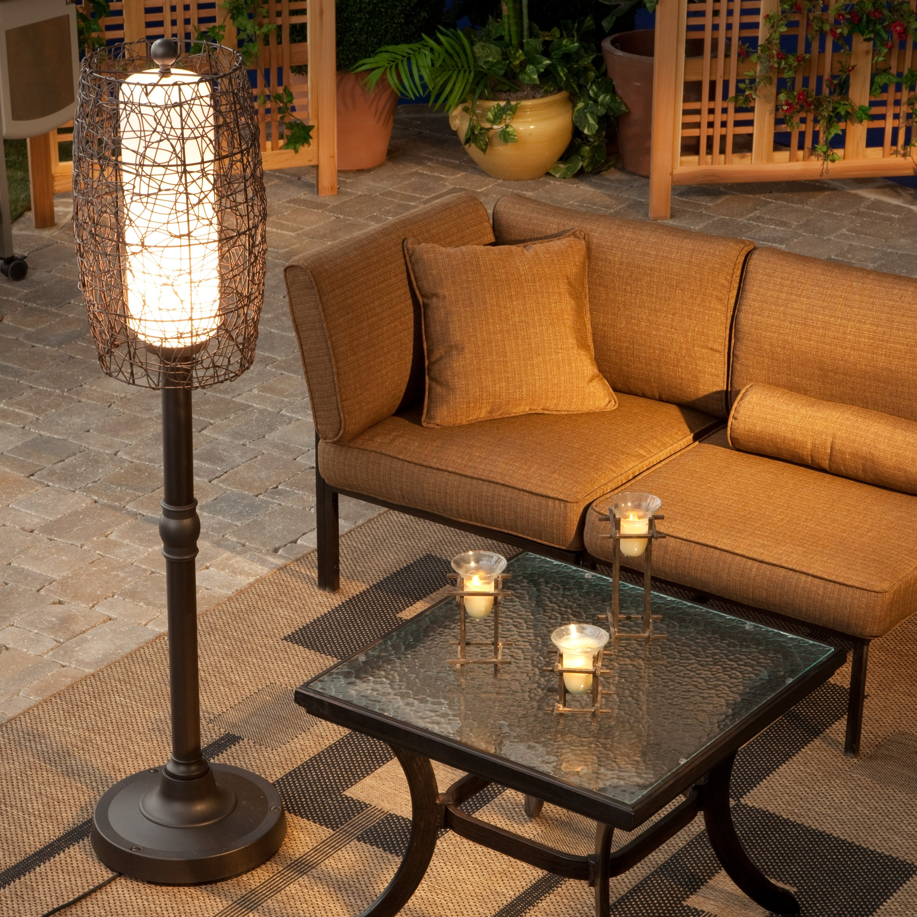Fashionable Outdoor Lanterns For Patio For Bristol Outdoor Patio Floor Lamp (Gallery 4 of 20)