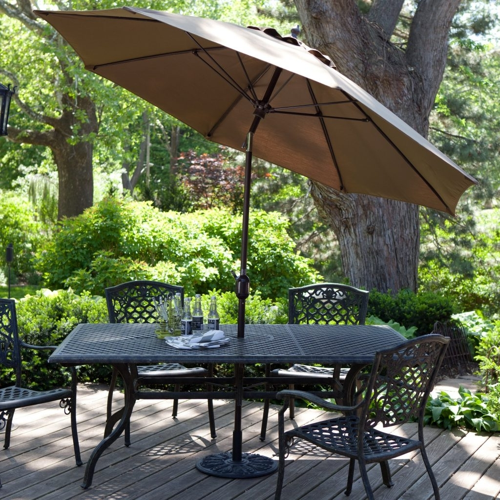 Fashionable Patio Umbrellas Com Luxury Treasure Garden 11 Ft Sunbrella Aluminium Inside 11 Ft (View 9 of 20)