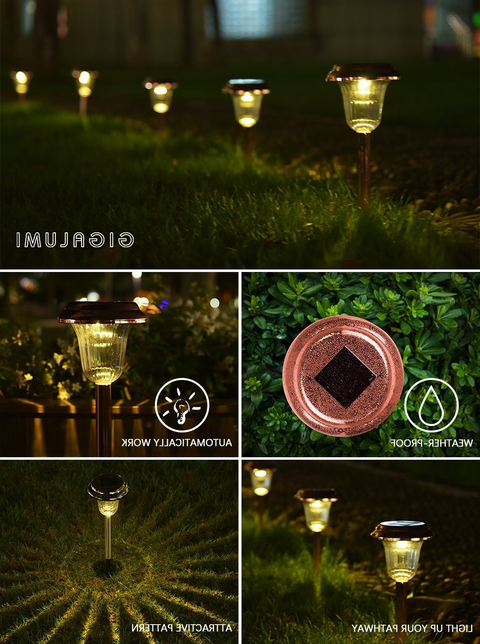 Fashionable Shop For Gigalumi Solar Path Lights Outdoor, Waterproof Outdoor Throughout Outdoor Driveway Lanterns (View 12 of 20)