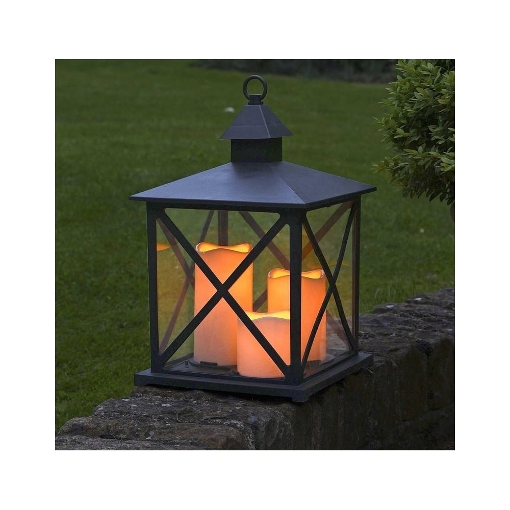 Fashionable Smart Garden Monterrey Battery Operated Outdoor Lantern Regarding Outdoor Lanterns With Battery Operated (View 5 of 20)