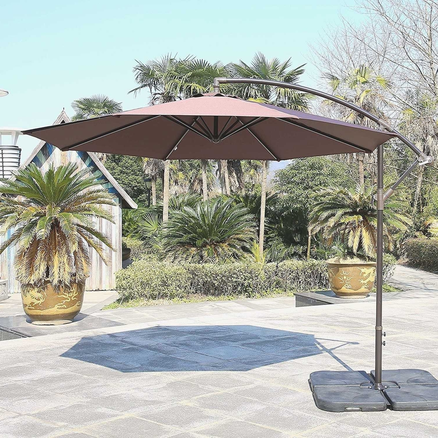 Fashionable Striped Sunbrella Patio Umbrellas In Tips: Best Frontgate Umbrellas With Sunbrella Striped Patio Umbrella (View 9 of 20)