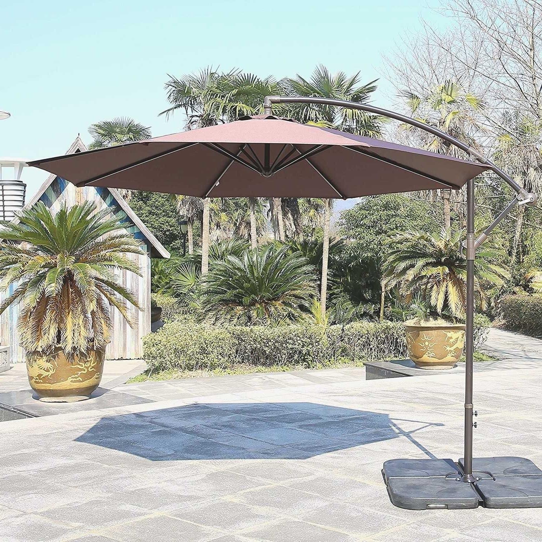 Fashionable Striped Sunbrella Patio Umbrellas In Tips: Best Frontgate Umbrellas With Sunbrella Striped Patio Umbrella (View 5 of 20)