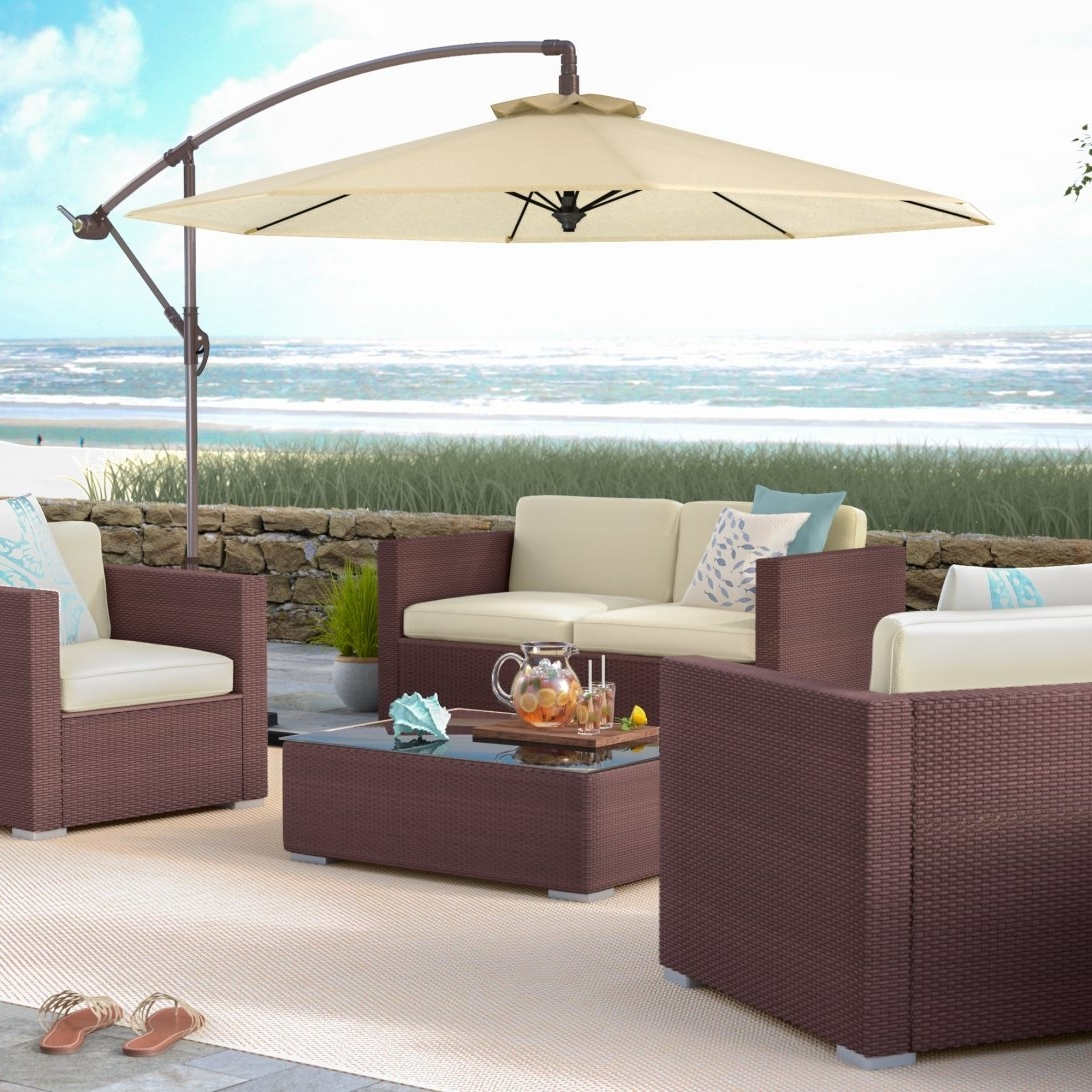 Fashionable Wayfair Patio Umbrellas Inside Matching Patio Umbrella And Cushions Outdoor – Awesome Home (View 4 of 20)