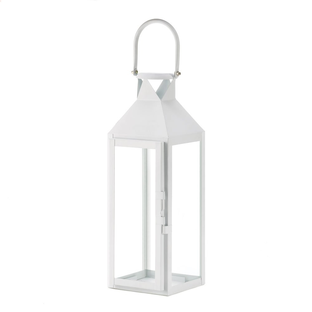 Fashionable White Lanterns Candle, Decorative Wrought Outdoor Metal Candle With Regard To White Outdoor Lanterns (View 12 of 20)