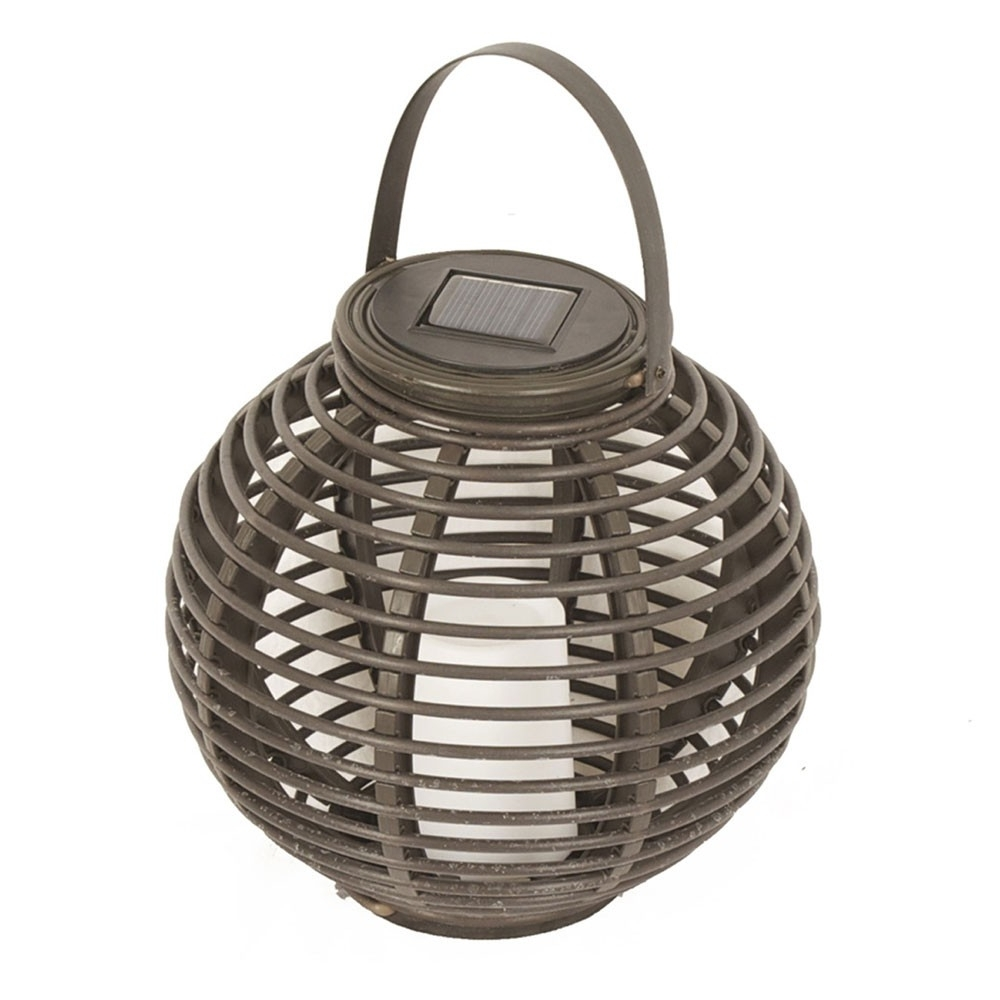 Faux Rattan Solar Lantern In Preferred Outdoor Rattan Lanterns (View 5 of 20)