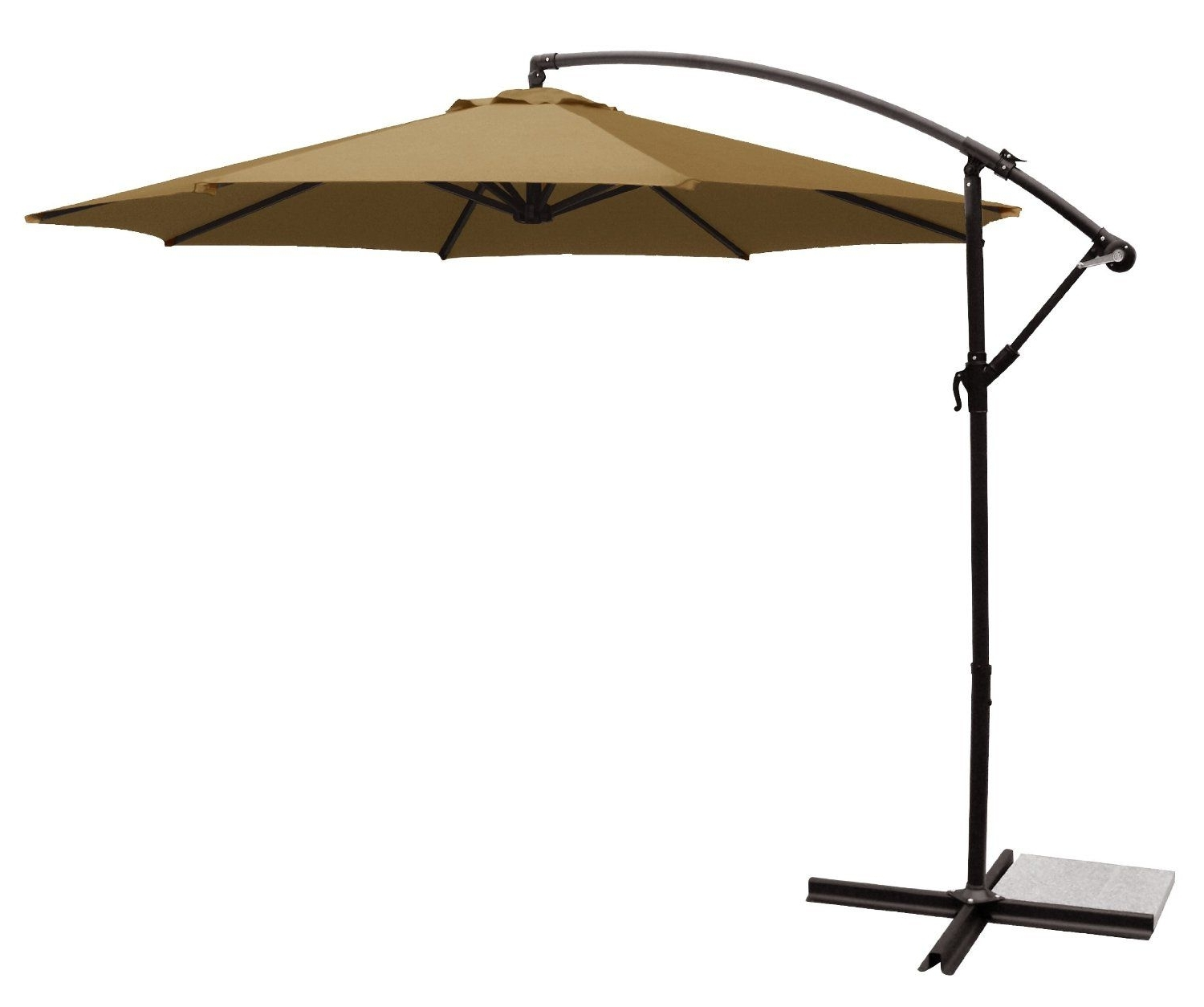 Favorite Amazon : Ace Evert Offset Umbrella 8074, 10 Ft, Polyester, Terra Inside Offset Patio Umbrellas With Base (View 16 of 20)