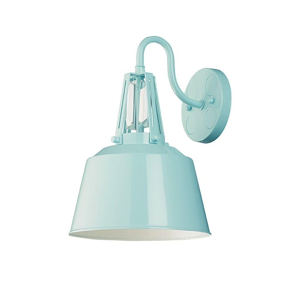 Favorite Blue Outdoor Lanterns Throughout Feiss Freemont Collection 1 Light Hi Gloss Blue Outdoor Wall Lantern (Gallery 17 of 20)