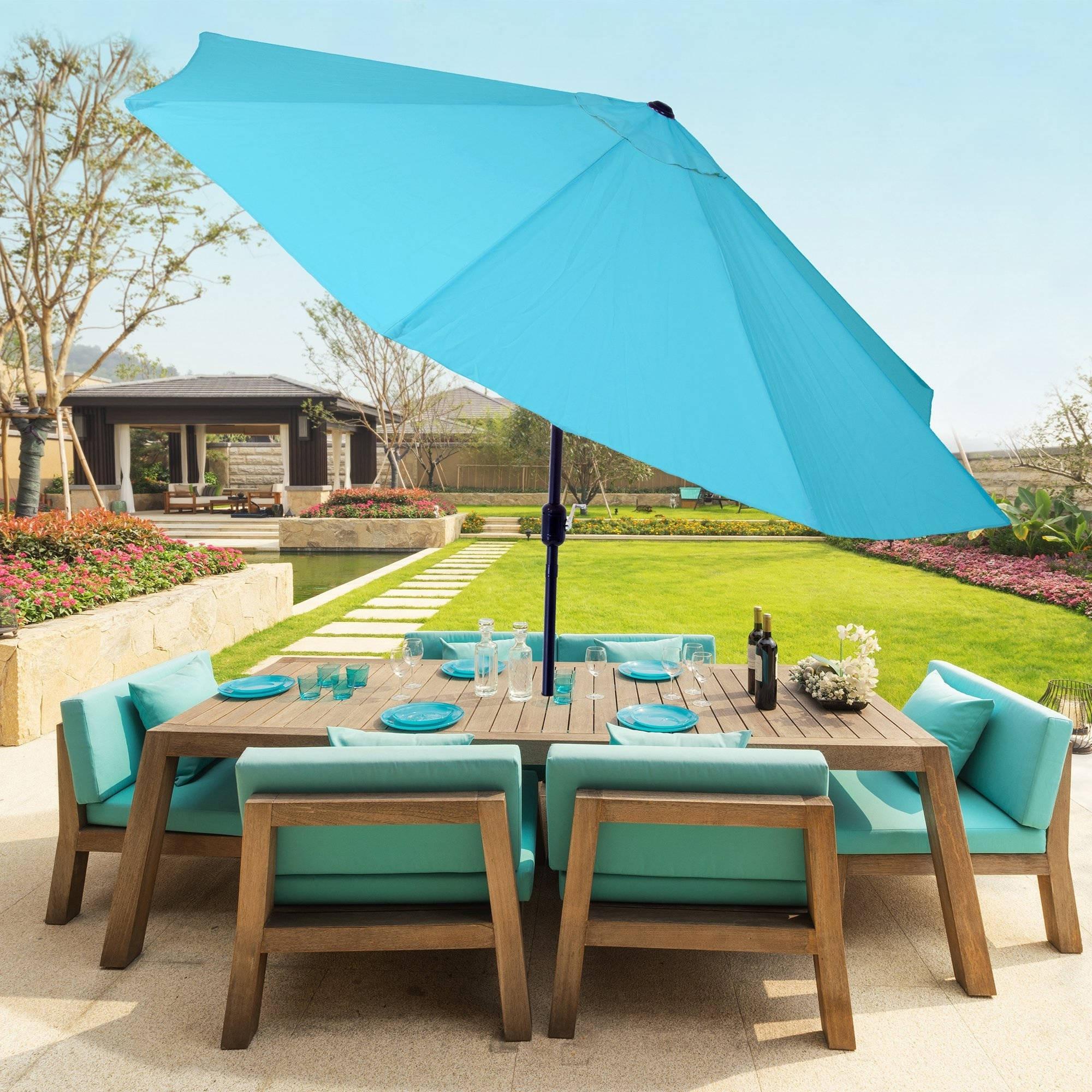 Favorite Blue Patio Umbrella New Outdoor Bistro Umbrella Small Navy Blue Inside Blue Patio Umbrellas (View 19 of 20)