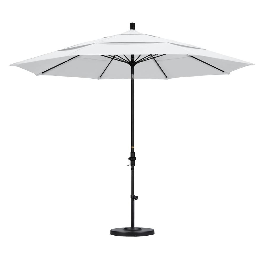 Favorite California Umbrella 11 Ft. Fiberglass Collar Tilt Double Vented With Regard To 11 Foot Patio Umbrellas (Gallery 13 of 20)