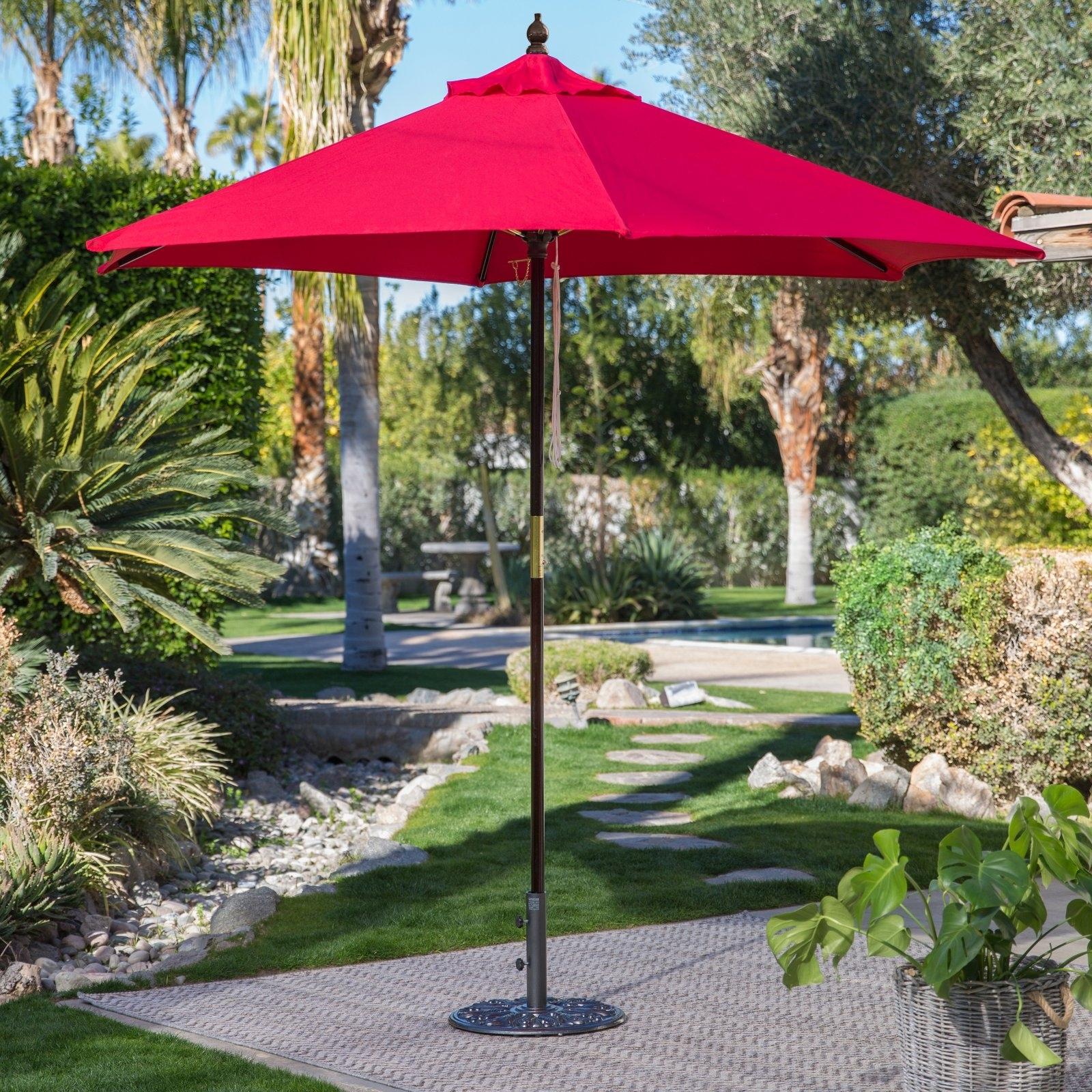 Favorite Commercial Patio Umbrellas Sunbrella Pertaining To Belham Living 7.5 Ft Sunbrella Commercial Grade Aluminum Wind (Gallery 3 of 20)