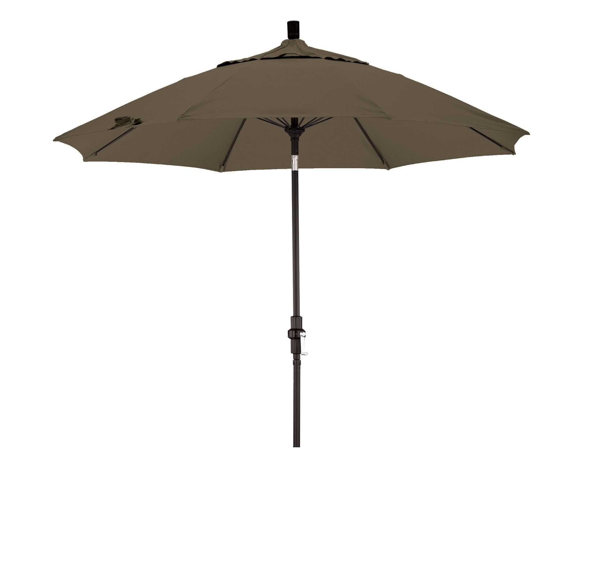 Favorite Eclipse Collection 9' Fiberglass Market Umbrella Collar Tilt M Black Regarding Sunbrella Teak Umbrellas (View 6 of 20)