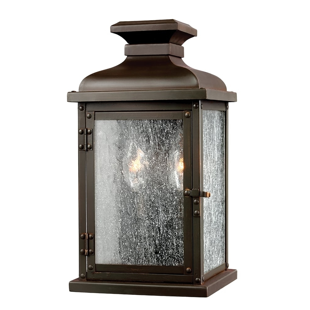Favorite Elstead Lighting Pediment 2 Light Small Outdoor Wall Lantern In Dark Intended For Outdoor Lanterns Without Glass (View 13 of 20)