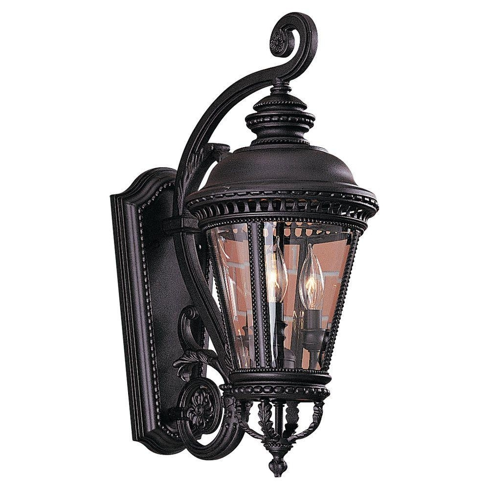 Favorite Feiss Castle 3 Light Black Outdoor Wall Lantern Ol1901bk – The Home Intended For Elegant Outdoor Lanterns (View 9 of 20)